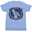 USFL Shirt Oakland Invaders Adult Light Blue Tee T-Shirt