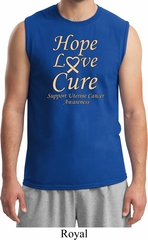 Uterine Cancer Awareness Hope Love Cure Muscle Shirt