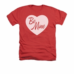 Valentine's Day Shirt Be Mine Adult Heather Red Tee T-Shirt