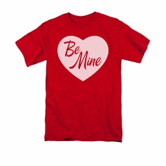 Valentine's Day Shirt Be Mine Adult Red Tee T-Shirt