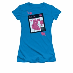 Valentine's Day Shirt Juniors Fix It Puzzle Turquoise Tee T-Shirt
