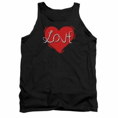 Valentine's Day Tank Top Love Hate Black Tanktop