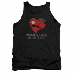 Valentine's Day Tank Top Popping The Question Black Tanktop