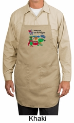 Vegan Apron – Eat Your Veggies Apron with 3 Pockets