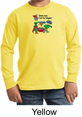 Vegan Kids Long Sleeve Shirt – Eat Your Veggies Youth Shirt