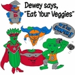 Vegan Shirt - Dewey Says Ringer Shirt Eat Your Veggies