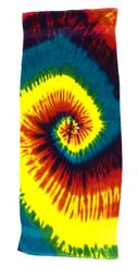 Vintage Beach Towel - Tie Dye Reactive Rainbow Retro