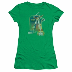Voltron Shirt Juniors Distressed Defender Kelly Green Tee T-Shirt