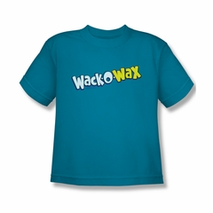 Wack O Wax Shirt Kids Logo Turquoise T-Shirt