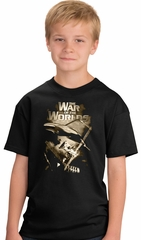 War of the Worlds Kids Shirt - Youth Size Black Tshirt