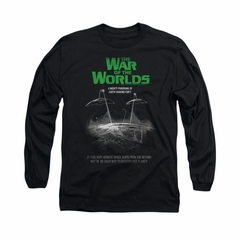 War Of The Worlds Shirt Poster Long Sleeve Black Tee T-Shirt