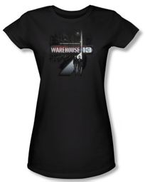 Warehouse 13 Shirt Juniors The Unknown Black Tee T-Shirt