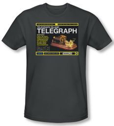 Warehouse 13 Shirt Telegraph Island Adult Charcoal Tee T-Shirt
