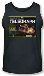 Warehouse 13 Tank Top Telegraph Island Charcoal Tanktop