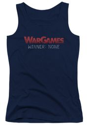 WarGames  Juniors Tank Top Winner None Navy Blue Tanktop
