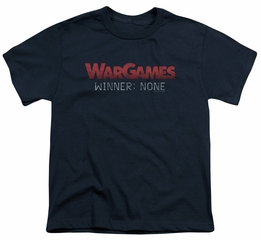 WarGames  Kids Shirt Winner None Navy Blue T-Shirt