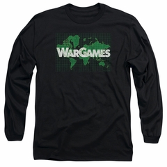 WarGames  Long Sleeve Shirt Game Board Black Tee T-Shirt