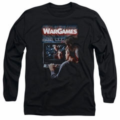 WarGames  Long Sleeve Shirt Movie Poster Black Tee T-Shirt