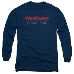 WarGames  Long Sleeve Shirt Winner None Navy Blue Tee T-Shirt