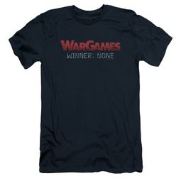 WarGames  Slim Fit Shirt Winner None Navy Blue T-Shirt