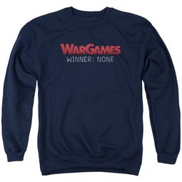 WarGames  Sweatshirt Winner None Adult Navy Blue Sweat Shirt