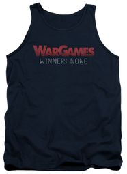 WarGames  Tank Top Winner None Navy Blue Tanktop