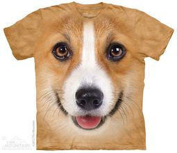 Welsh Corgi Face Shirt Tie Dye Adult T-Shirt Tee
