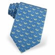 Whales Blue Silk Tie Necktie - Men's Animal Print Neck Tie