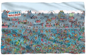 "Where's Waldo Microfiber Fleece Blanket - 36"" X 58"""
