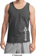 White 7 Chakras Bottom Print Mens Yoga Shirts