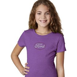 White Ford Middle Print Kids Ford Shirts