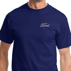 White Ford Pocket Print Mens Ford Shirts