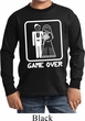 White Game Over Kids Long Sleeve Shirt
