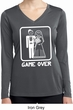 White Game Over Ladies Dry Wicking Long Sleeve Shirt