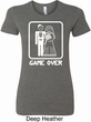 White Game Over Ladies Longer Length Shirt