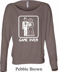 White Game Over Ladies Off Shoulder Shirt