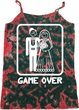 White Game Over Ladies Tie Dye Camisole Tank Top