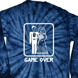 White Game Over Long Sleeve Tie Dye Shirt
