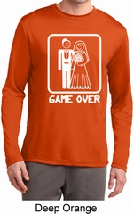 White Game Over Mens Dry Wicking Long Sleeve Shirt