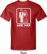 White Game Over Mens Tall Shirt