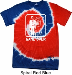 White Game Over Patriotic Tie Dye Shirt