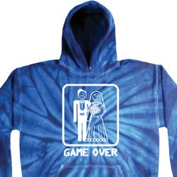 White Game Over Tie Dye Hoodie