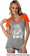 White Penguin Power Bike Ladies Contrast V-Neck Shirt