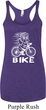 White Penguin Power Bike Ladies Tri Blend Racerback Tank Top