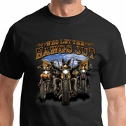 Who Let The Hawgs Out Mens Biker Shirts