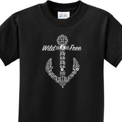 Wild and Free Anchor Kids Shirts