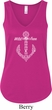 Wild and Free Anchor Ladies Flowy V-neck Tanktop