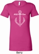 Wild and Free Anchor Ladies Longer Length Shirt