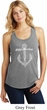 Wild and Free Anchor Ladies Racerback Tank Top