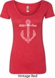 Wild and Free Anchor Ladies Scoop Neck Shirt